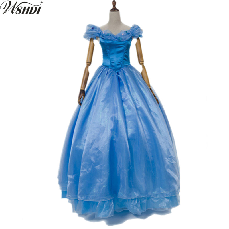 Princess Cinderella Wedding Dress Costume For: Deluxe Princess Cinderella Costume Blue Tulle Wedding