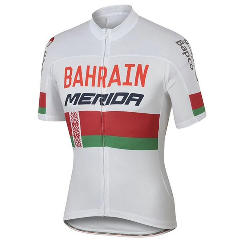 2018 New Summer Short Sleeve Cycling Jersey Quick Dry Team Bahrain Ropa Ciclismo Quick Dry Clothing Bike Clothes in Cycling Jerseys from Sports Entertainment