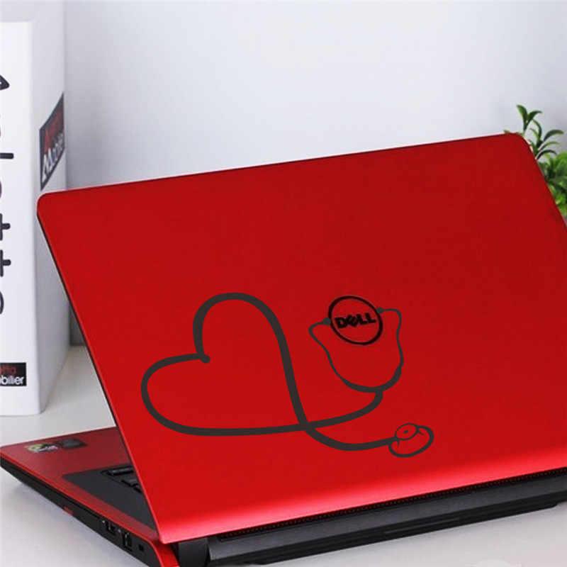 ملصقات حائط مزخرفة للحاسوب المحمول على شكل سماعة قلب حب ، ديكور منزلي ، ديكور مكتبي ، ملصق سيارة هدية رائعة