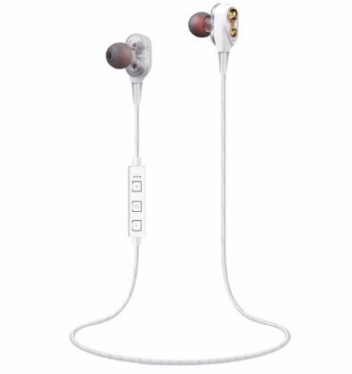 XT-21 Bluetooth Earphone WM-01 Double Moving Coils Magnetic Bass Quad-core Speakers Mini Stereo Bluetooth Sports Earphones
