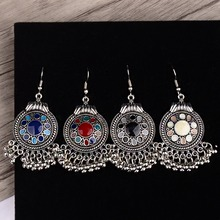 Egypt Vintage BOHO Unique Indian Earrings African Enamel Beaded Earring Women Ethnic Tibetan Jewelry Jhumka Hippie Bijoux