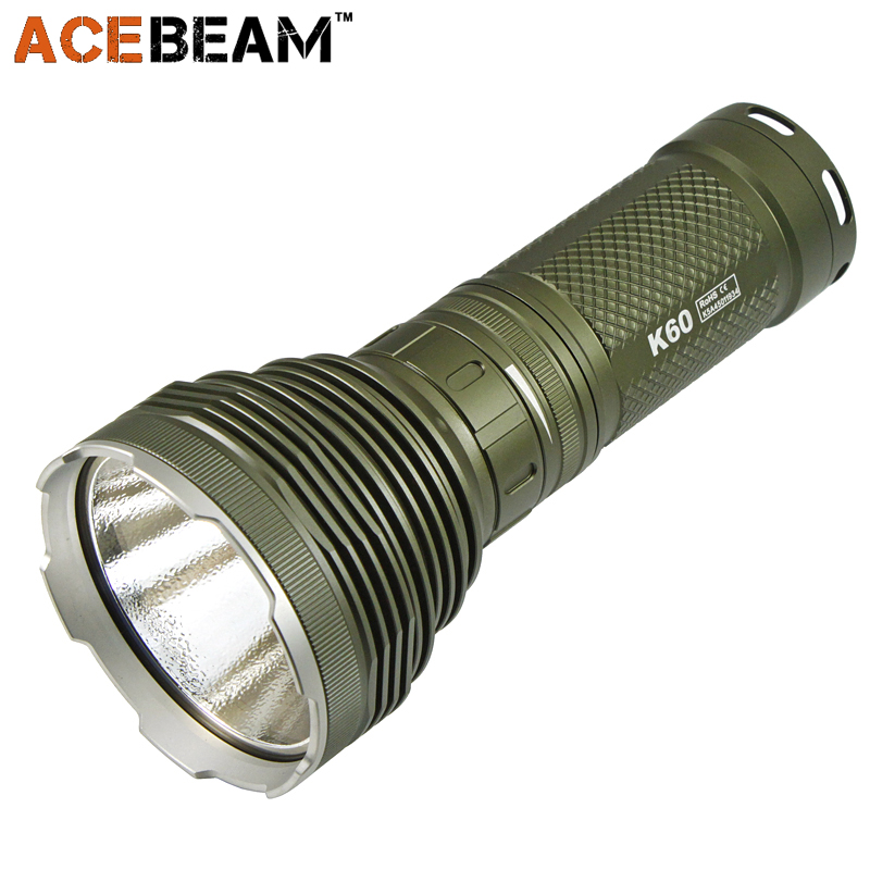 AceBeam K60 Hunting Flashlight CREE XHP 70 5000 Lumens 700M Magnetic Ring Control Switch 18650 Outdoor Military Searching Torch information searching and retrieval