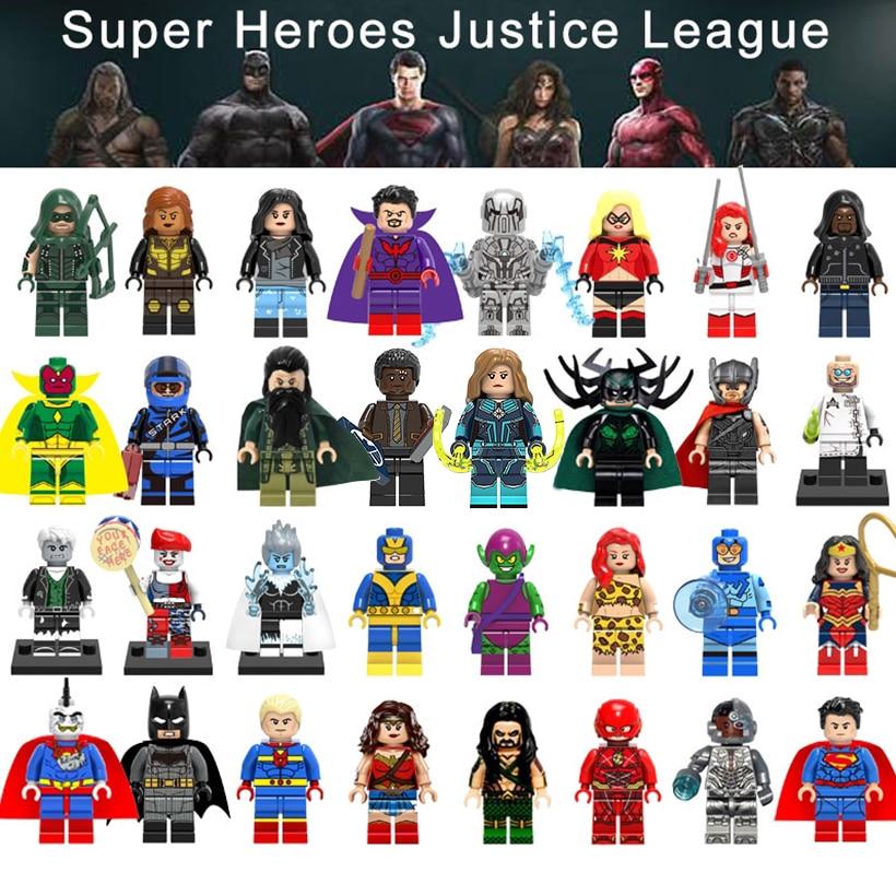 Legoing Superhero Building Blocks Hela Marvel Batman Wonder Woman Poison Ivy Spiderman -5122