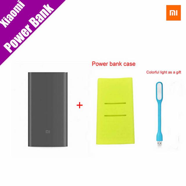 Originais xiaomi mi banco de potência pro 10000 mah mi powerbank 10000 pro usb slim-tipo c carga mais rápida + poewer caso do banco