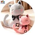 НОВЫЙ милый мультфильм cat с галстуком плюшевые куклы мягкие игрушки подарок для ребенка дети дети подруга подарок на день рождения бесплатная доставка