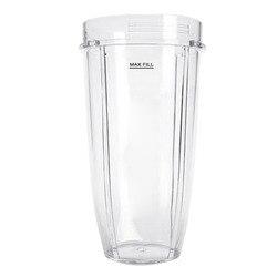 Behogar 24oz przeźroczyste tworzywo sztuczne wymiana części Cup akcesoria dla Nutri Ninja 900W 1000W Blender sokowirówka