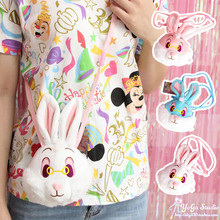 New Cartoon Alice In Wonderland Rabbit Plush Bag Crossbody Bag Wallet Belle Princess Handbag Girls Shoulder Bag for Girls Gifts