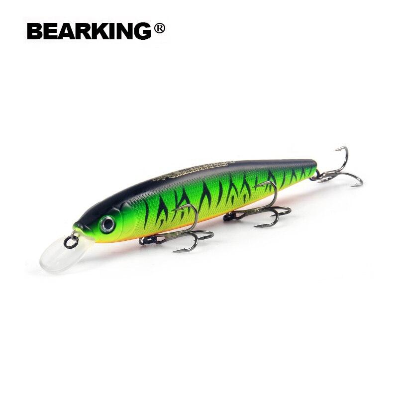 Bearking Bk17-M130 PESCA 1 unid Minnow 25g 130mm 1,3-2 m profundidad bamboleo señuelos señuelo duro cebo pesca Wobblers 10 colores