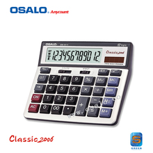OS-6815 PC Key 12-digit Large Display Calculator Dual Power Electronic Desktop Calculadora Solar Office & School Hesap Makinesi