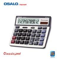 OS 6815 PC Key 12 Digit Large Display Calculator Dual Power Electronic Desktop Calculadora Solar Office