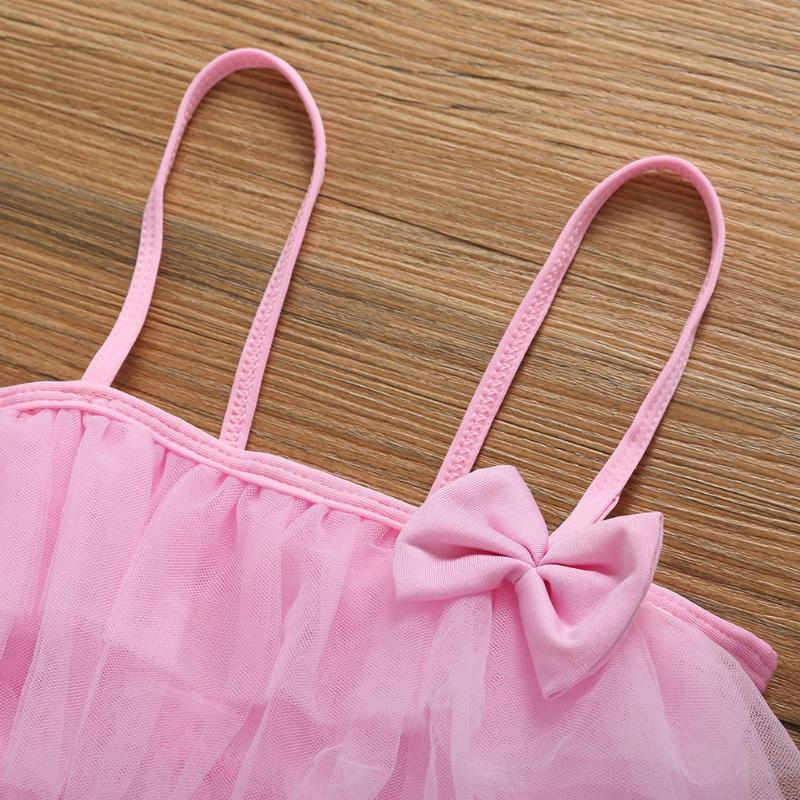 Children Swimwear Falbala Girls Bikinis Set Baby Kids Bow Swimsuit Bikini Girl Summer Lace Bathing Suit Pink Yellow Blue