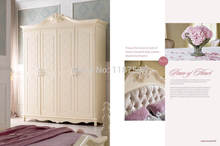 8011B дома мебель для спальни деревянная четыре двери шкаф chifforobe
