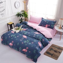Flamingo Bedding Set Luxury Duvet Cover And Pillowcase Queen Family Bed Linen Euro Home Textile Animal