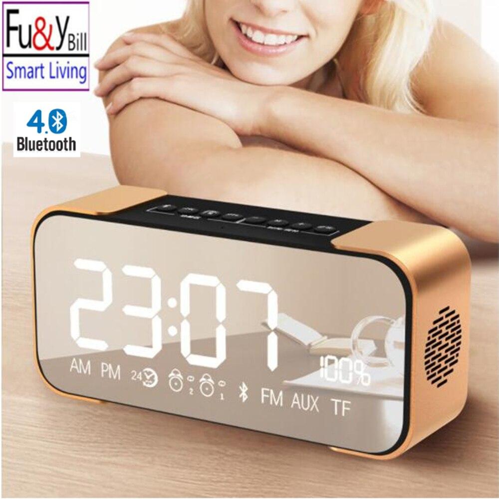 Fuy Билл <font><b>Bluetooth</b></font> Динамик PTH-305 Беспроводной стерео звук музыки коробка Поддержка fm Радио линии в TF время/Будильник <font><b>altavoz</b></font> Колонки