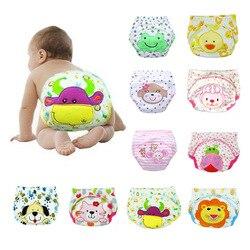 Новинка, 1 шт., моющиеся подгузники для маленьких мальчиков и девочек, милые тканевые новые подгузники, хлопковые тренировочные трусики, под...
