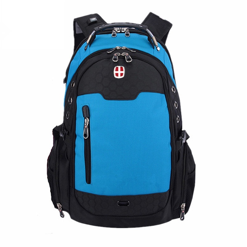 Swiss Fashion Backpack Woman Man Travel Bag Nylon Rucksack Waterproof Light CanvasNotebook Computer Bag Business College