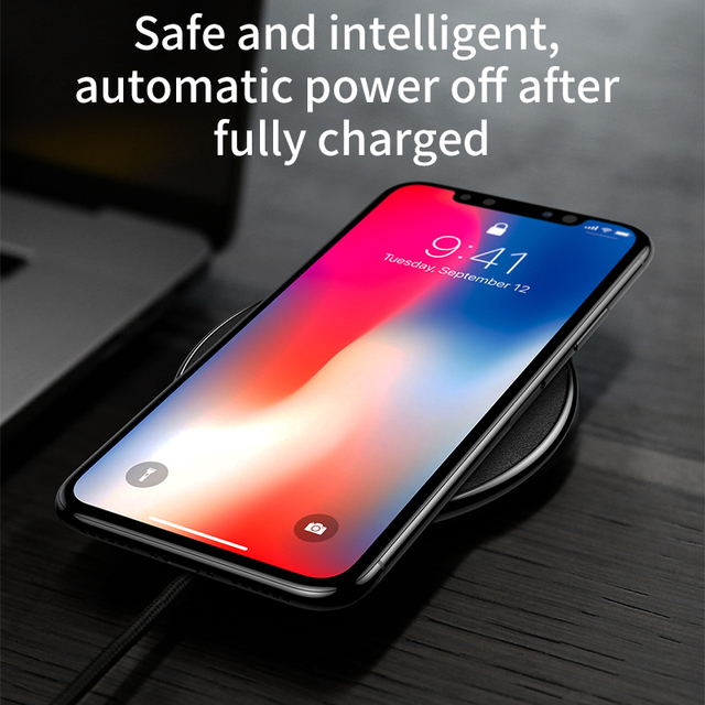 Cool Stuff Baseus Leather Qi Wireless Charger For iPhone X 8 Plus Samsung Galaxy Note 8 S8 S7 S6 Edge Desktop Fast Wireless Charging Pad 2