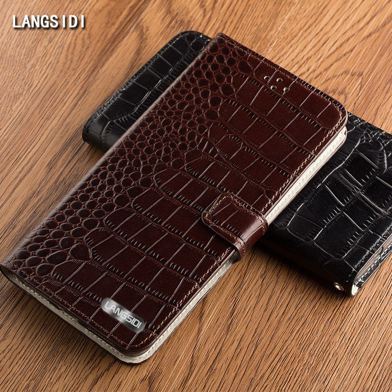 wangcangli brand case Crocodile Tabby Discount Phone Case for iPhone X Phone case and for iphone 7 7P 8 8P phone case in Flip Cases from Cellphones Telecommunications