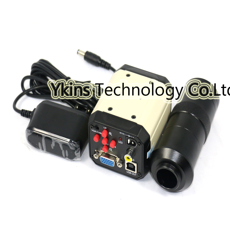 Free shipping 3 in1 Digital Microscope Camera VGA USB CVBS TV outputs+56 LED ring Light+stand holder+130X C mount lens