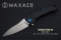 Spor ve Eğlence'ten Dış Mekan Aletleri'de Maxace Corvus K katlanır bıçak kamp bıçağı K110 çelik stonewash bıçak