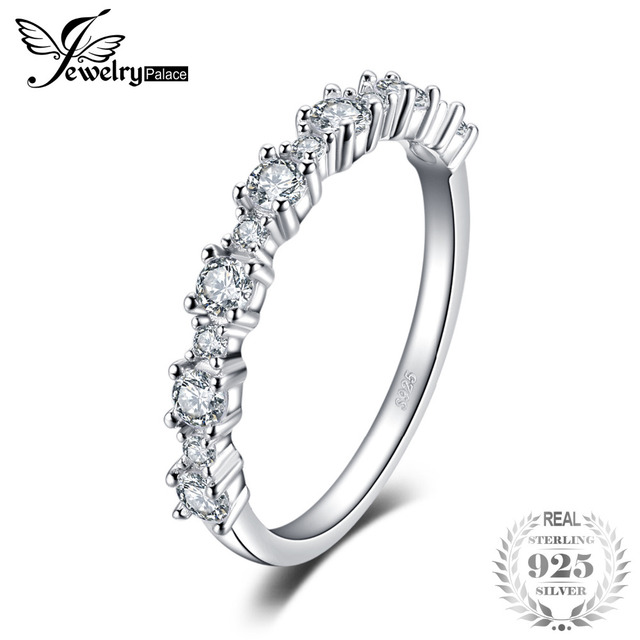 JewelryPalace 925 Sterling Silver Ring Wedding Band Engagement Ring Fashion Ring