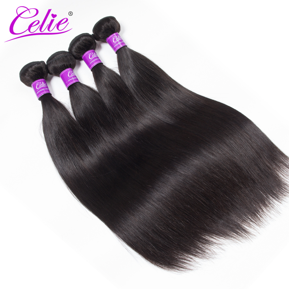 Celie Hair Peruvian Straight Hair Bundles 4 Pcs Lot Human Hair Bundles 100 Remy Peruvian Hair