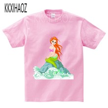 2019 girl Cute Colorful Mermaid Printed Tshirt Kids cartoon t shirt Children Summer Tops Baby Girls Short Sleeve T shirt Clothes стоимость