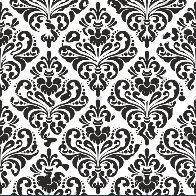 Black Damask Wallpaper White Photo Studio Background Vinyl Cloth High Quality Computer Print Wall Backdrop