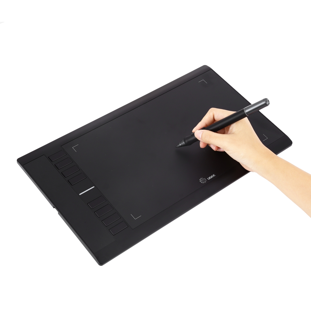 computer writing tablet Turcom ts-6610 graphic tablet drawing tablets and pen/stylus for pc mac computer, 10 x 625 inches surface area 2048 levels of pressure sensitive surface with 8 hot keys, 5080 lpi resolution, ideal for kids and artists.