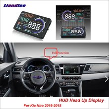 Liandlee Full Function Car HUD Head Up Display dla Kia Niro 2016-2018 bezpieczny ekran jazdy OBD prędkościomierz projektor do przedniej szyby