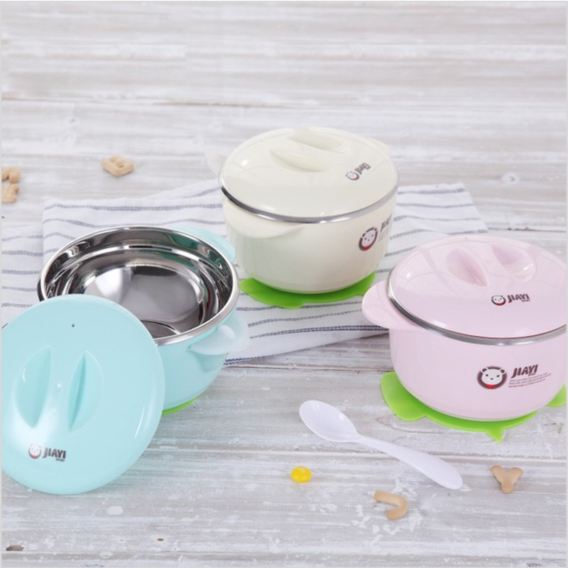 Warming Plate Injection Hot Water Insulation Cup Childrens Food Dishes Dinnerware Bowl Baby Feeding Tableware R1780