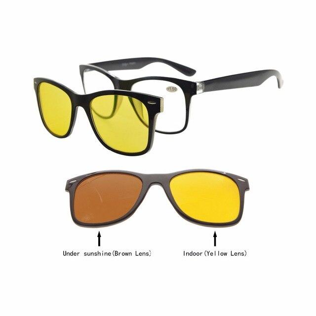 3f80c48c17 BSR135 lunettes de lecture pas à pas avec lentille photochromique Anti-éblouissement  bleu polarisé Clip