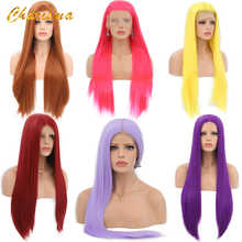 Charisma Long Blonde Cosplay Wig Silky Straight Synthetic Lace Front Wigs for Women 10 Color Pink Black Grey With Baby Hair - DISCOUNT ITEM  28% OFF All Category