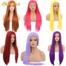 Длинный парик для косплея Charisma, шелковистые прямые синтетические парики для женщин, розовый парик, черные/серые парики с детскими волосами