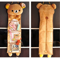 1pc Super Cute Soft Plush Rilakkuma Long Hanging Storage Bag Toy Kawaii Hanging Bag Creative Home