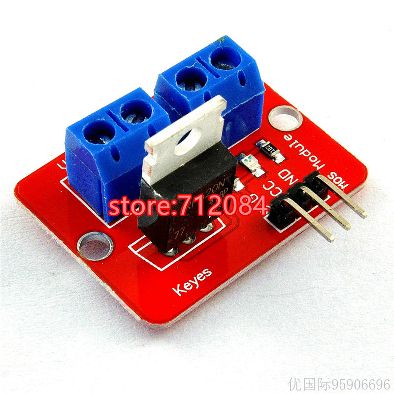 0-24V Top Mosfet Button IRF520 MOS Driver Module For MCU ARM Raspberry pie