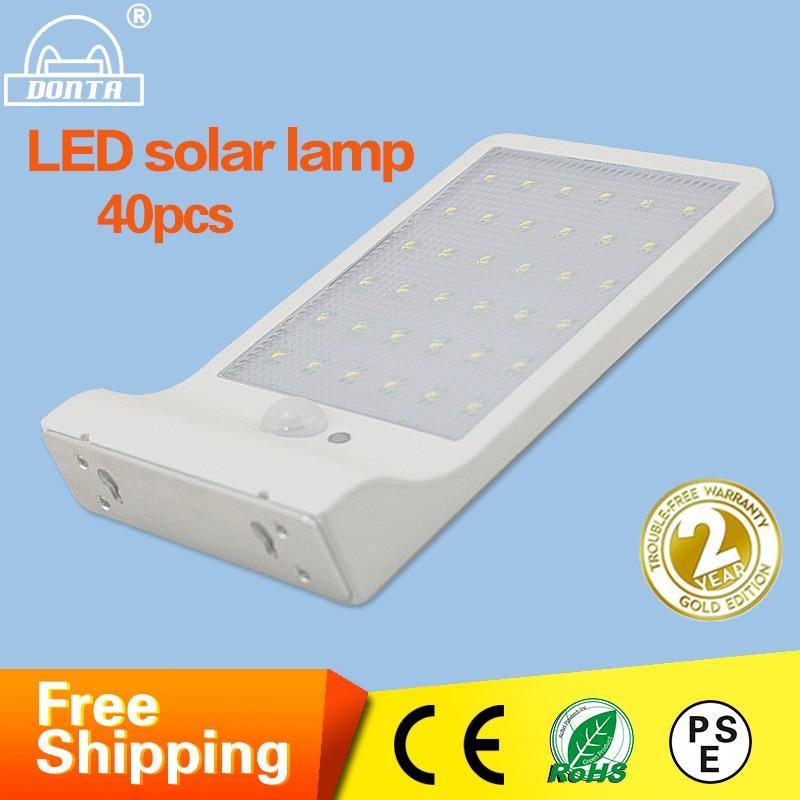 ФОТО Wholesale LED Solar Wall Lamp PIR Motion Sensor Intergrated Solar Street Lights Led Solar Power Garden Waterproof Outdoor Light
