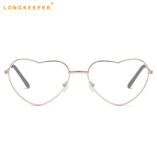 b7fb615a94 Cute Sexy Heart Shaped Sunglasses Women Fashion Retro Eyeglasses Clear Lens  Goggles Glass Lovely Eyewears Festival