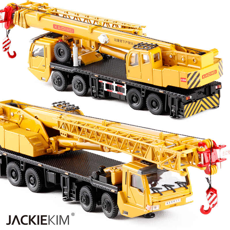 Hot 1:55 Alloy Sliding Construction Crane Model Toys For Children's Educational Toys Free shipping Original Box