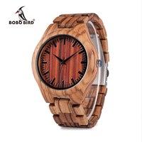 2016 New Arrival Red Stripe Dail Zebra Stripe Wood Watch Mens Quartz Watches Antique Clock With