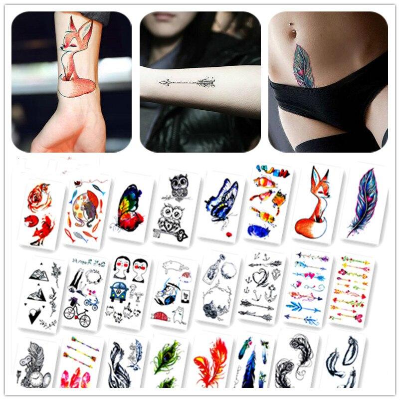 Новое поступление красочные картины Животные поддельные флэш-пикантные Средства ухода за кожей Книги по искусству Временные татуировки Наклейки для парня девушку