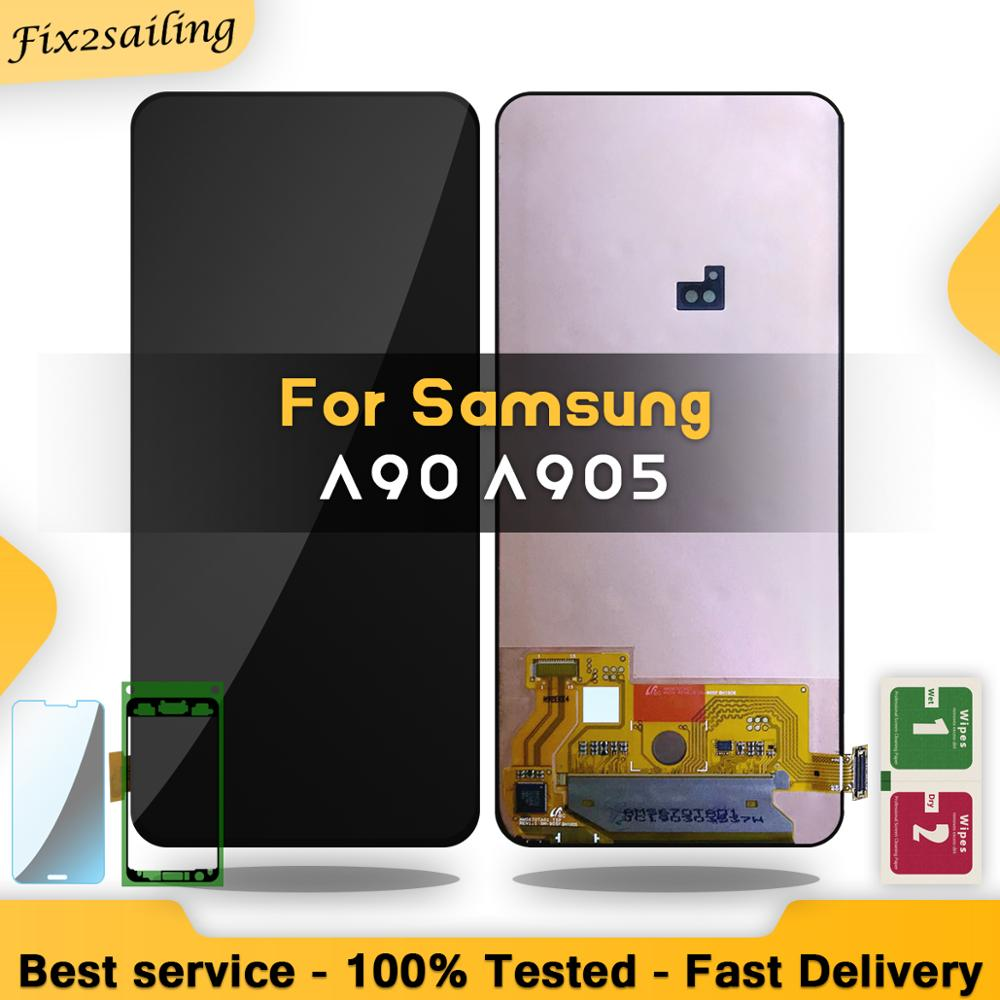LCD SUPER AMOLED For Samsung Galaxy A90 A905 A905F SM A905 Display Touch Screen Digitizer Assembly