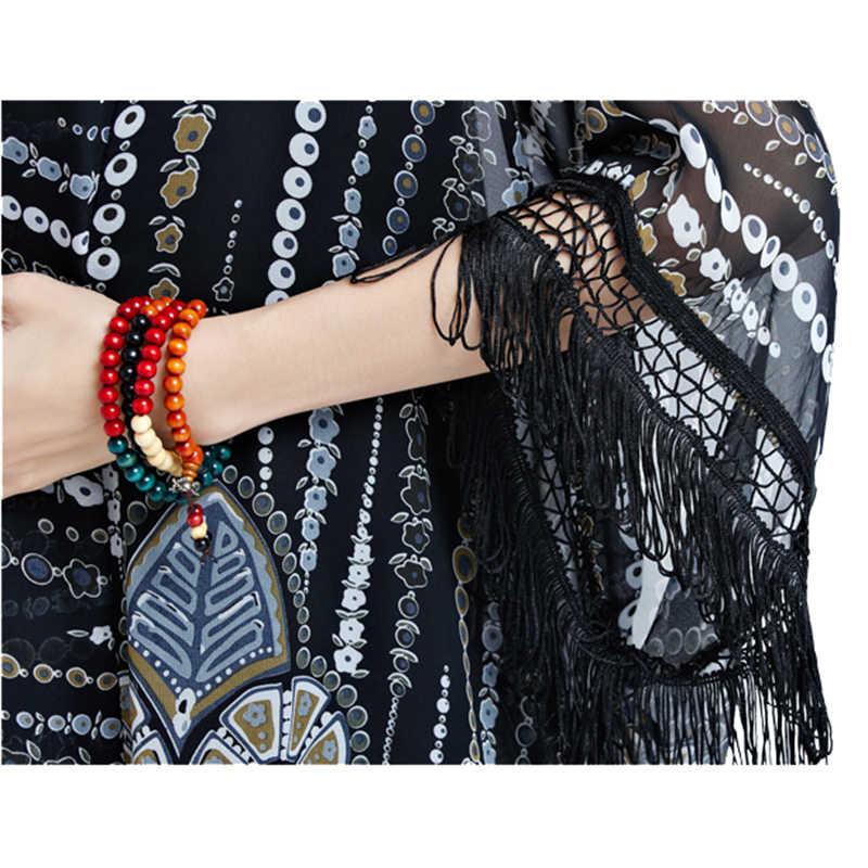 Oladivi Plus Size Vrouwen Blouses Shirt Tops Lange Kimono Vest Blusas Strand Dunne Bovenkleding Zomer 2019 Zon Bescherming Cover 8XL