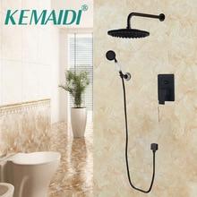 KEMAIDI Bathroom Faucets Shower Set Faucet Mixer Black Mixer Set Crane  Bathtub Faucets Antique Bath Rain