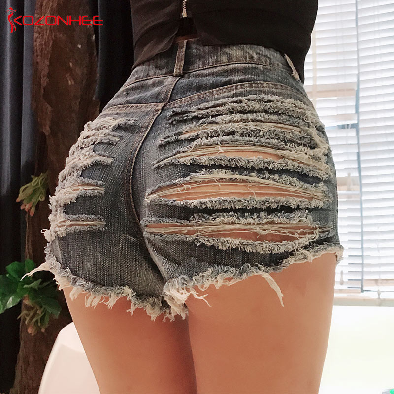 sexy Vintage Ripped Women Denim   Shorts   With High Waist Stretch Distressed Female Summer   Shorts   For Women's jeans #72
