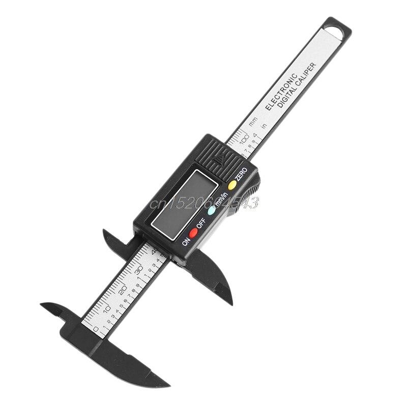 Digital Eletrônico Vernier Caliper Calibre 100mm 4 Polegada Medida Micrômetro Novo R06 Whosale & Dropship Lcd