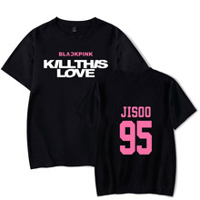 KELUOXIN Latest Album Kpop Blackpink KILLTHISLOVE T-Shirt Women Men Summer Short Sleeve Cotton Top Hip-hop Casual Loose TShirts(China)