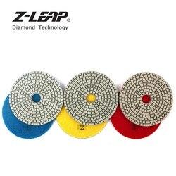 Z-LEAP 100mm 3 sztuk/zestaw 3 krok diament polerowania naczyń 4 Cal granitu i marmuru płytki ściernice do polerowania szlifierka kątowa