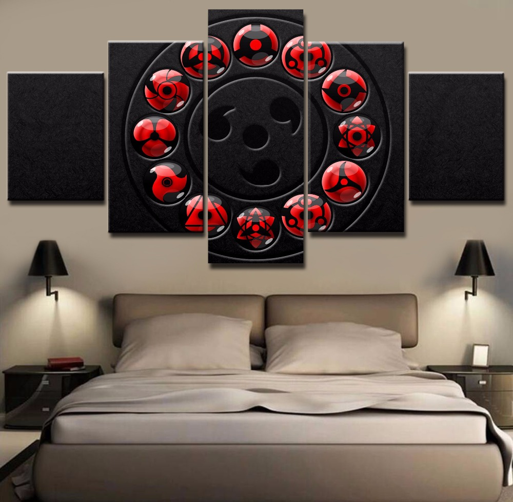Gerahmte 5 Stücke HD Druck Malerei Naruto Poster Drucken Gemälde auf ...