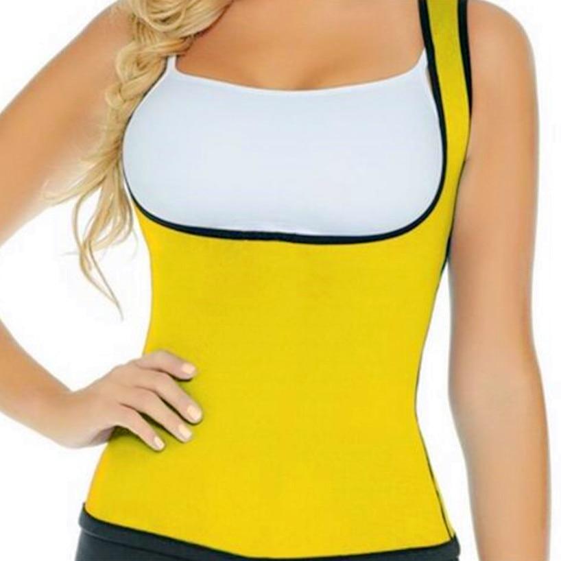 Womens Thermal Hot Body Shaper Ultra Sweat Slimming Shirt Neoprene Weight Loss New Shaper Brand Tops Chest Abdomen Bodysuit Vest